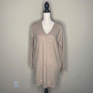 Tan cherish midi sweater dress